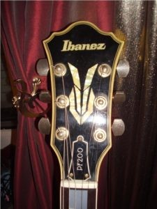 Post Lawsuit Headstock & Rabbit Ears Logo on a PF200
